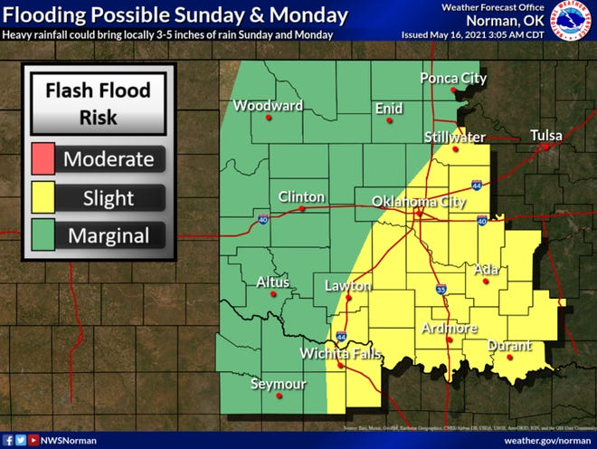 Flooding is possible as rain lingers in the region through the week.