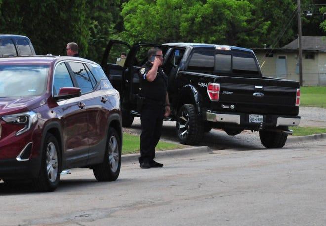 Wichita Falls Police investigate a shooting near the MPEC Sunday.