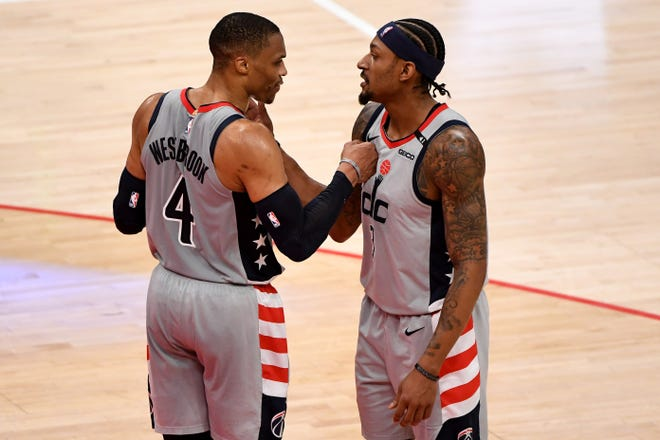 Russell Westbrook (4) surpassed Oscar Robertson's career mark for triple-doubles and Bradley Beal finished No. 2 in the NBA in scoring to lead the Wizards into the play-in tournament.