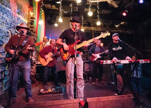 """Flamingo Cantina will reopen with """"Dreadneck Wednesday,"""" a long-running residency from the Mau Mau Chaplains, seen here in 2011."""