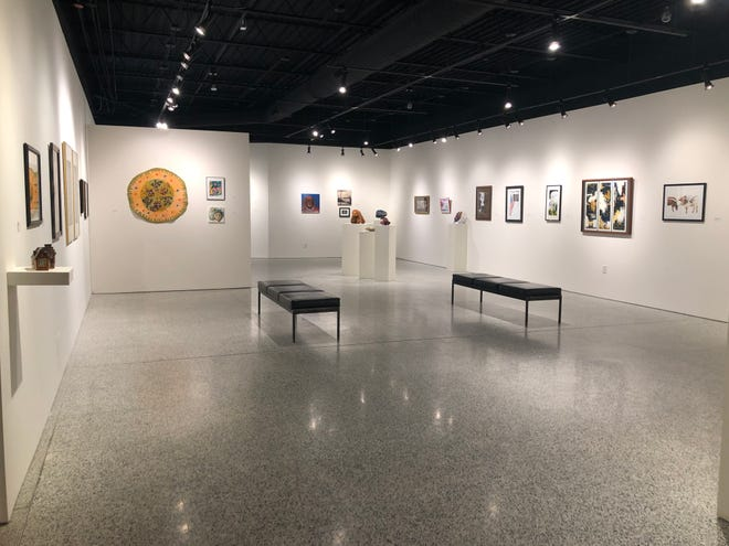 Coburn Gallery at Ashland University is exhibiting artwork featuring 22 members of the Ashland Community Arts League.