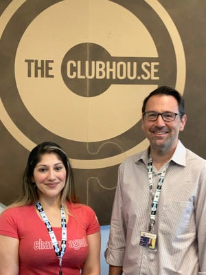Juana Burt, left, with Eric Parker, co-founder and president of the Clubhou.se business and technology incubator. Burt will be part of the initial Make Startups entrepreneur training program launching in Augusta this month and in other cities in Georgia in August.