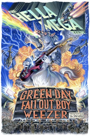 Green Day, Fall Out Boy and Weezer will play Historic Crew Stadium on Aug. 17.