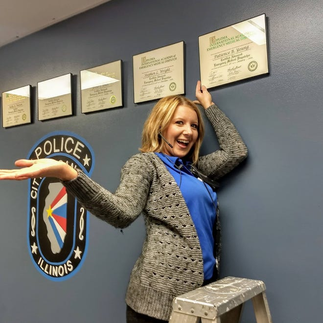 Telecommunicator Patience Young was selected as the Dispatcher of the Year for the Canton Police Department.