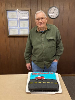 Gilbert Klockenga has served Loraine Township as their Road Commissioner since May of 1989. A retirement celebration was held on May 11th, as Gil passed the reins on to Joe Zokal, who has worked with him throughout his time in office, as Gil kept the machinery running and the roads maintained.  Loraine Township has appreciated his dedication and service for all of these 32 years