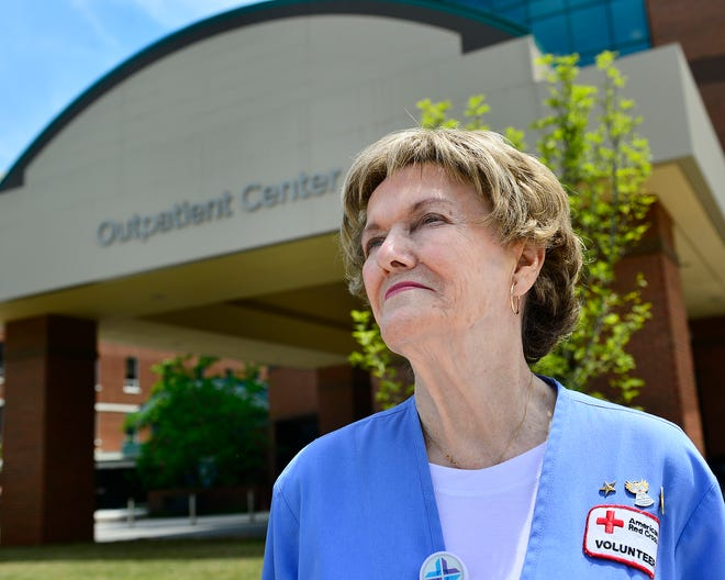 Helen West, 90, has been a volunteer at Spartanburg Regional Healthcare System since 1967.  Here, she talks about the impact the patients have had on her life.
