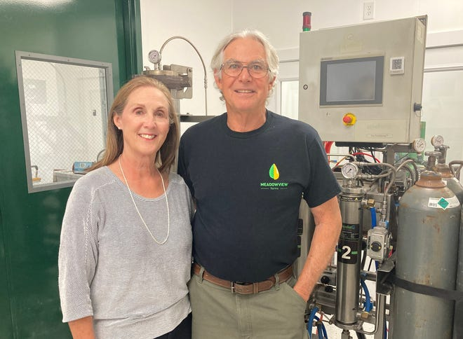 U.S. Army veteran David Peed and his wife, Nancy, started Meadowview Farms, a CBD oil manufacturing company, in 2019.