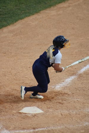 In game two, Potomac State's Allison Leighty hit a grand slam in the bottom of the seventh inning.  Potomac State would lose both games Saturday, however, to end their season.