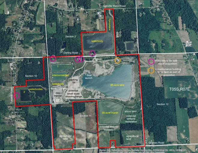 This is a map outlining the 680 acres that soon will be open to the public for recreation.