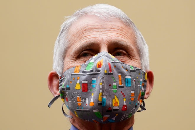 Dr. Anthony Fauci, the nation's top infectious disease expert, testifies April 15 before a House Select Subcommittee on the Coronavirus Crisis hearing on Capitol Hill in Washington, D.C.