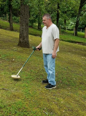 To find buried treasures like Civil War artifacts, David Bernard still uses the first metal detector he bought when he was a teenager.
