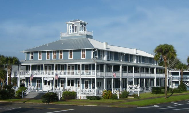 On the Florida Panhandle, Apalachicola's charming Gibson Inn is seen in a photograph taken several years ago.