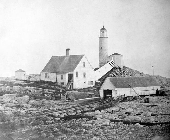 The White Island Lighthouse at Isles of Shoals.