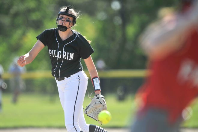 Alyssa Twomey has been a star for Pilgrim so far this spring season. On Monday, the sophomore gave up only one hit and struck out 12 in the Patriots' 3-0 win over Cranston West.
