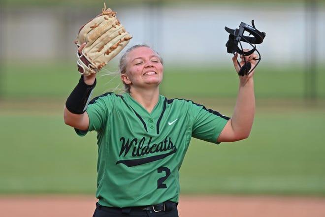 Mogadore pitcher Madison King celebrates.