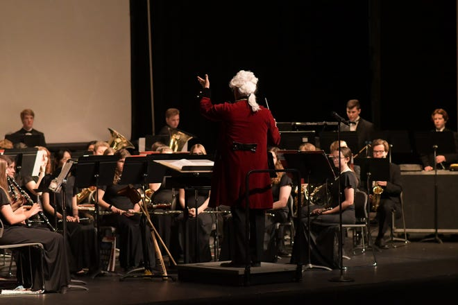 """The Yellow Jacket Band Wind Ensemble performed its spring concert on May 11. The concert was titled """"From the Past"""" and featured selections from Bach to Balmages -- classical to modern American composers."""
