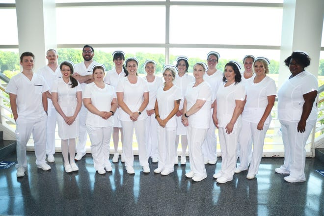 Associate Degree Nursing students were pinned during a recent ceremony.