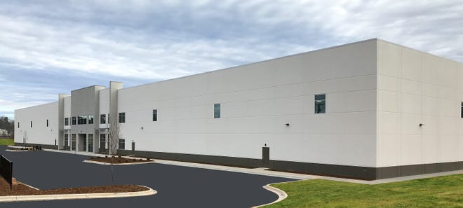 A photo of the new shell building constructed by city of Shelby and Cleveland County government.