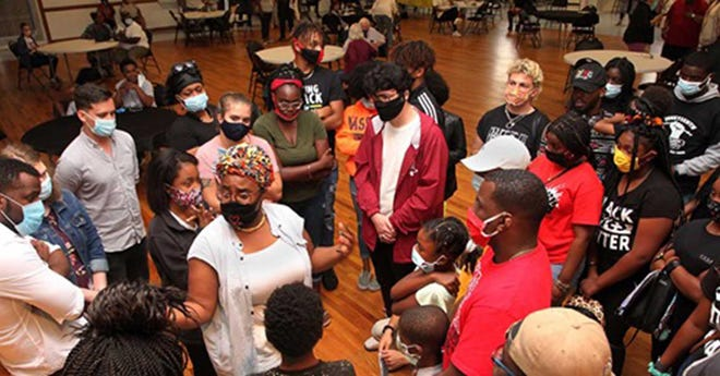 Juneteenth activities at the Omega Center in 2020.