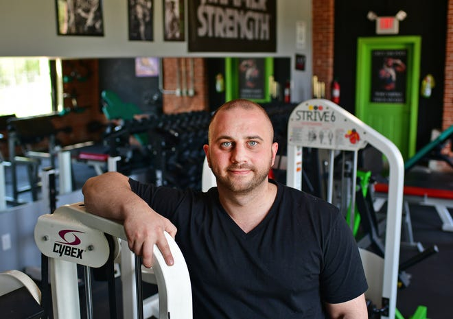 Dave Blondin, owner of Prime Fitness Gym, on Monday in Oxford.
