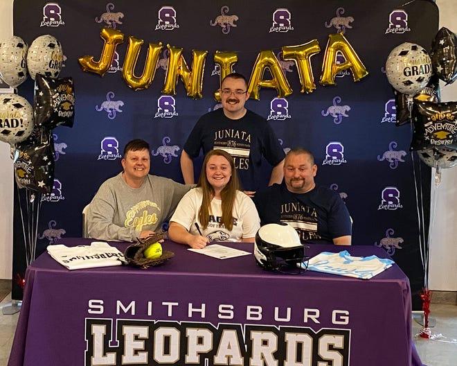 Smithsburg seniorMackenzie Blickenstaff signs with Juniata College.