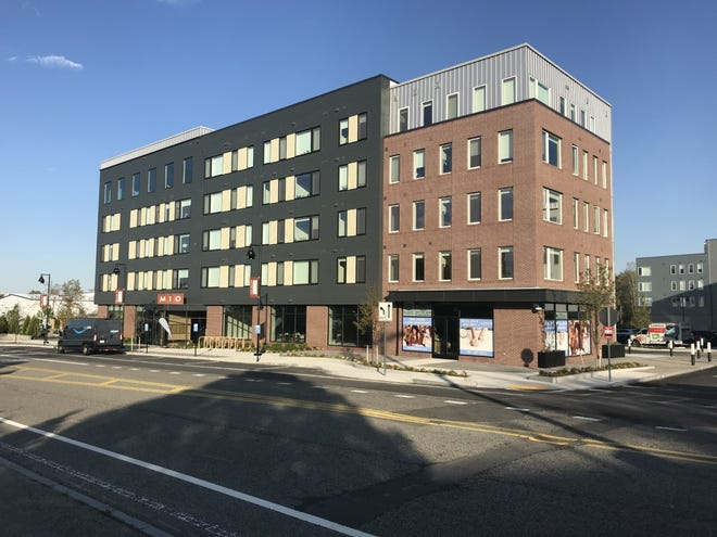 The main building of the Mio Apartment Complex on Trotter Road in Weymouth has space on the ground level for potential small shops, a restaurant or fitness center.