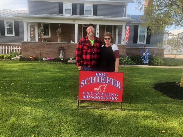 Eric and Angie Schiefer own Schiefer Excavating in Bucyrus.