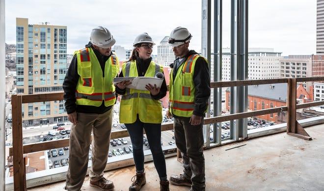 Al. Neyer team members at a job site.
