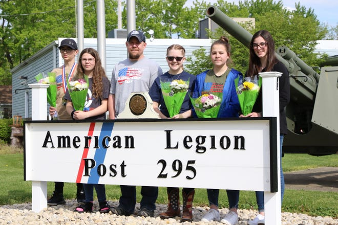 Supporters greeted the American Legion Post 295 Marksmanship Team on Sunday, in Green Springs. The team, which includes Deitrich Bergman, Claudia Muzik, Rebeca Pendleton, Hailey Singleton, and Kasey Metz, is coached by Matt Muzik.