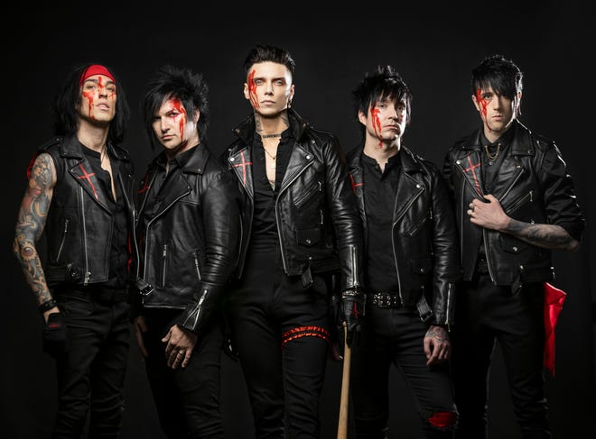 Black Veil Brides will be in concert Oct. 28 at Bogart's. Tickets go on sale Friday.