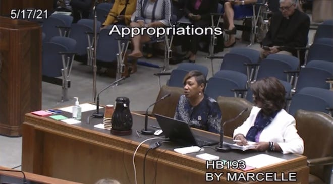Rep. Denise Marcelle, D-Baton Rouge, presented a bill to create an office for women's health that moved forward in the House Wednesday.