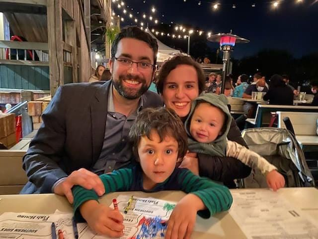 The congregation of B'nai Israel Synagogue Pensacola awaits the May 21 arrival of Rabbi and Rebbitzin David and Cynthia Cohen-Henriquez and young sons, Elliott and Oliver.