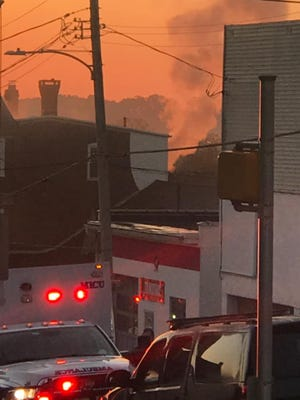 Crews were dispatched at 5:42 a.m. in the first block of East High Street and finished up at the scene around 8:30 a.m., according to Alliance Fire & Rescue ServicesChiefScott Gingrich.Photo: Tom Barley