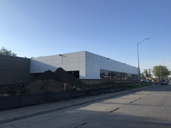 The former Vern Eide Mitsubishi dealership at 1500 S. Minnesota Ave. is being renovated into a central hub for Silverstar Car Wash offices and a new car wash location.