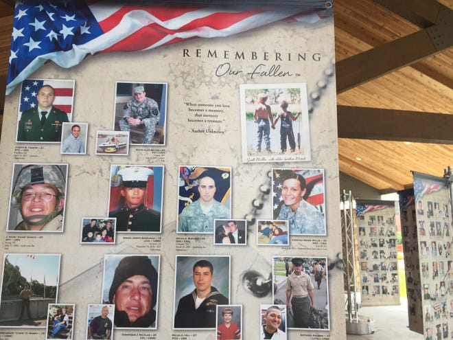 The Remembering Our Fallen Memorial will be on display at Post 639 in Springfield June 3-6. The memorial honors military who have died since Sept. 11, 2001.