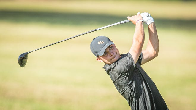 FSU redshirt sophomore Cole Anderson shot four under on the the first day of Tallahassee Regional at the Seminole Legacy Golf Club in Tallahassee.