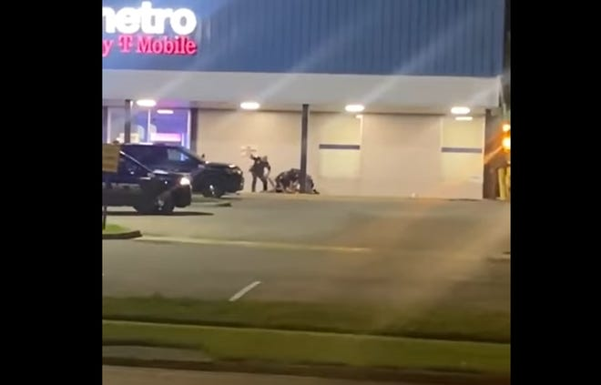 Three Tallahassee Police officers in a violent interaction with a person in northwest Tallahassee