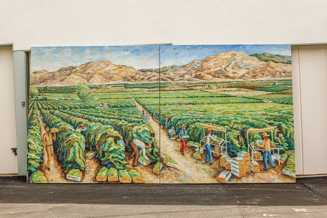 The mural—which is being donated to the city of Coachella by my old boss Billy Steinberg—was first commissioned for the company's new packing plant and offices in the unincorporated town of Thermal, more than 40 years ago.