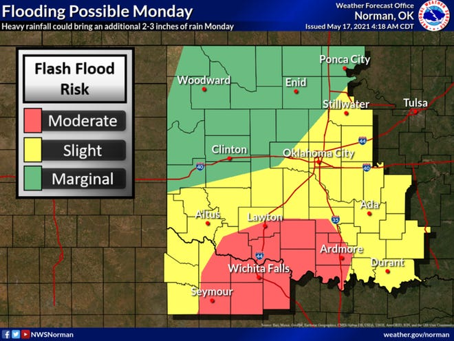 Flooding rains are possible for the next few days.