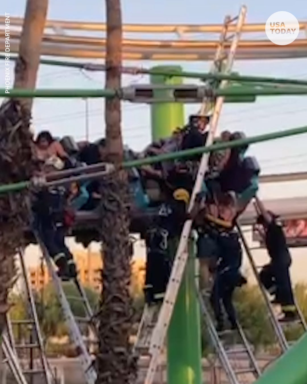 22 people rescued after roller coaster in Arizona gets stuck