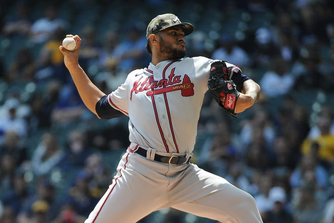 Braves pitcher Huascar Ynoa allowed five runs and nine hits on Sunday in a 10-9 loss to the Brewers.