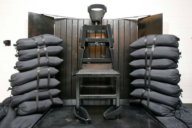 Firing squad execution chamber in Utah State Prison, on June 18, 2010, in Draper, Utah.