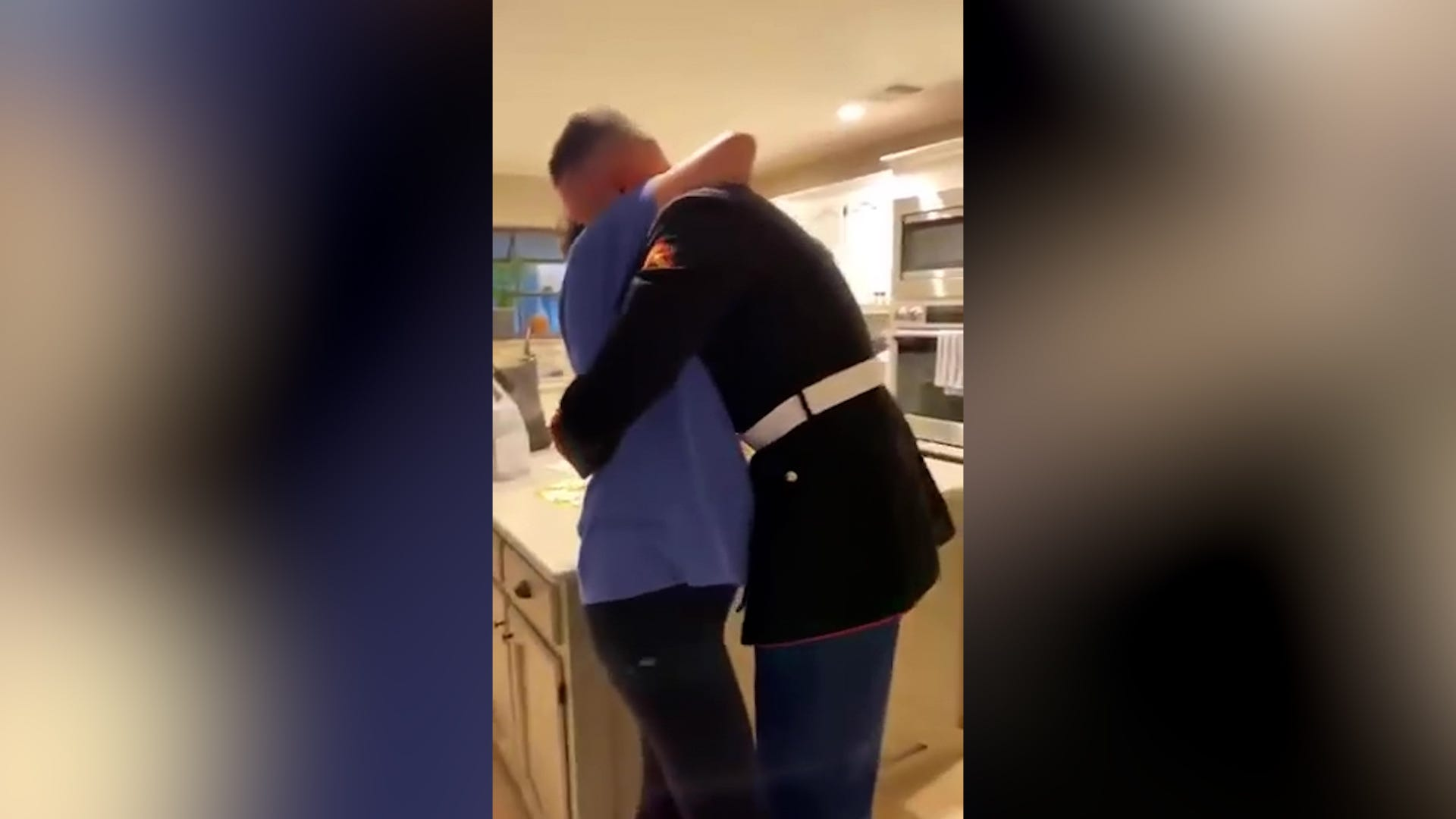 Mom s hilarious reaction to marine s homecoming