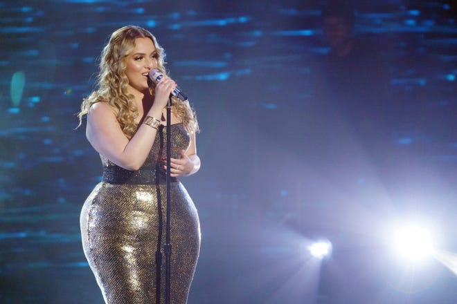 """College student Grace Kinstler, 20, sang """"A Moment Like This,"""" which Kelly Clarkson belted out during the season one finale of """"American Idol"""" after wining the show."""