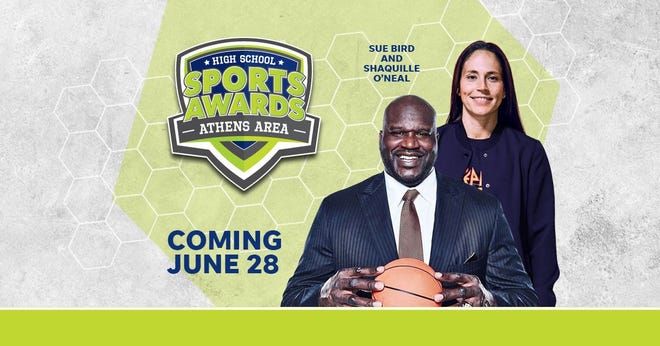 Basketball Hall of Famer Shaquille O'Neal and WNBA World Champion Sue Bird to present Player of the Year awards at the Athens Area High School Sports Awards.