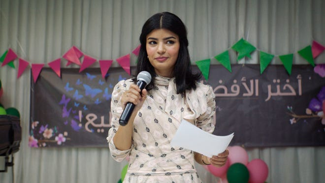 """This image provided by Music Box Films shows Mila Al-Zahrani in a scene from """"The Perfect Candidate,"""" scheduled for U.S. release on July 3, 2021."""