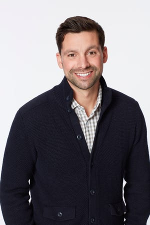 """Copley single dad and widower Michael Allio is one of the contestants on ABC's """"The Bachelorette"""" with Katie Thurston."""