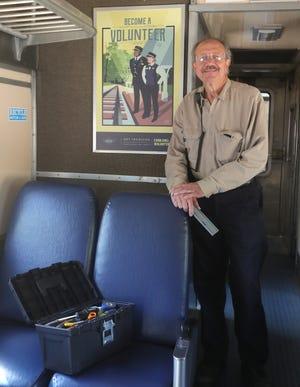 Tom Sadlo is a volunteer coordinator at the Cuyahoga Valley Scenic Railroad maintenance garage in Brecksville.