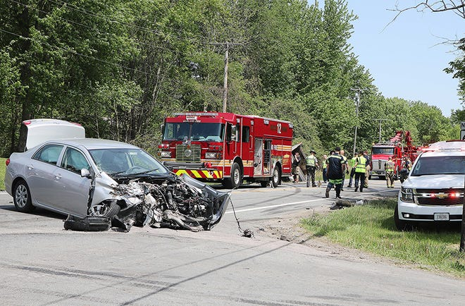 A Canton resident died Tuesday after a three-vehicle crash in Ashland County.