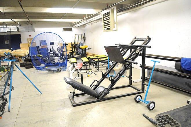 Mapleton High School's current weight room equipment seen here Tuesday, May 18, 2021. TOM E. PUSKAR/TIMES-GAZETTE.COM